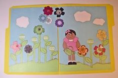Pre-k--Flower Garden File Folder Game. One more file folder game...matching colored flowers to the correct color words.