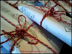 wrapping presents for kids party anthomeli.blogspot.com: Χαρτί περιτυλίγματος για αμπαλάζ με σφραγίδες