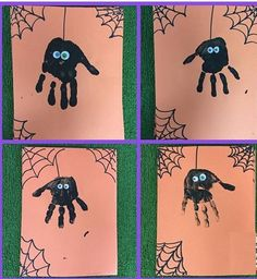 Handprint spiders that are perfect for your Fall or Halloween party. … Handprint spiders that are perfect for your Fall or Halloween party. Handprint spiders that are perfect for your Fall or Halloween party. Handprint spiders that… Continue Reading → Theme Halloween, Halloween Arts And Crafts, Halloween Crafts For Toddlers, Halloween Tags, Halloween Activities, Halloween Projects, Fall Halloween, Halloween Crafts Kindergarten, Preschool Halloween Party