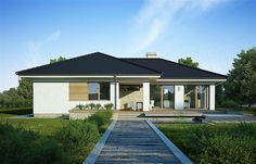 Zdjęcie projektu Julia WRP1452 Outdoor Rooms, Outdoor Decor, House Plans, Garage Doors, Floor Plans, Flooring, House Styles, Home Decor, Houses