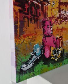 Fadiel Hermans: Lost & Found: fine art | StateoftheART South African Art, Toy Soldiers, Street Art Graffiti, Lost & Found, Canvas Size, Original Artwork, Pop Art, Teddy Bear, Fine Art