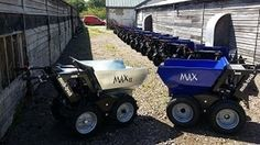 Muck Truck Max Dumpers for sale. The Max Dumper is used by landscapers, builders and tree surgeons. The Max Dumper Power Barrow will shift building materials like soil, gravel, sand and paving slabs. For more info please check us out at: http://www.fresh-group.com/max-dumper.html