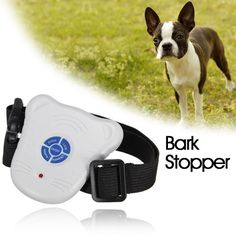 Stop Barking Anti Bark Training Control Collar Safe Ultrasonic Dog Pet via Goods from Michal. Click on the image to see more!