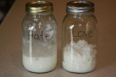 Great lesson on words and how they affect you. Love & Hate Rice jars. LOL you have to read this, it's crazy and awesome!  I want to try just to see if it works!