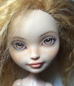 Those eyes Monster high Ever After High Doll Repaint Comission by shemaeva