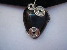 Black Cat's Eye Stoned Choker Necklace