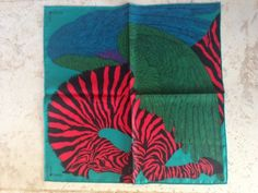 Hermes Zebra Pegasus pocket square designed by Alice Shirley