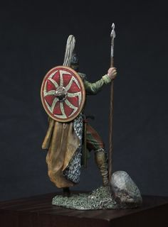 Barbarians Slavic Warrior, VII century A. by oxo-kod · Putty&Paint Barbarian, Byzantine, Warriors, Projects To Try, Christmas Ornaments, Holiday Decor, Illustration, Blog, Painting