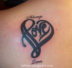 Heart Tattoo With Kids Names