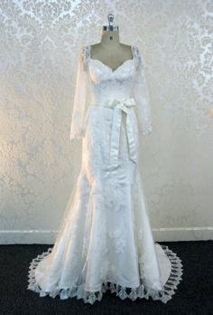 Items similar to Custom Wedding Dress with Long Sleeves Sweetheart Neckline French Lace Custom Made to your Measurements on Etsy Vintage Inspired Wedding Dresses, Custom Wedding Dress, Modest Wedding Dresses, Wedding Suits, Wedding Gowns, Bridal Gown, Wedding Bouquet, Lace Wedding, Wedding Music