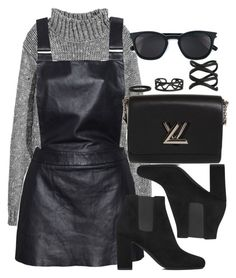 """Style #11430"" by vany-alvarado ❤ liked on Polyvore featuring Love Leather, Louis Vuitton and Yves Saint Laurent"