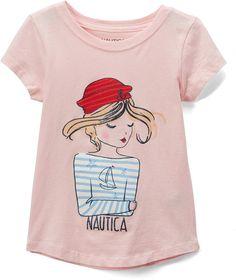 Take a look at this Light Pink 'Nautica' Sailor Girl Tee - Toddler & Girls today! Girls Tees, Toddler Fashion, Gifts For Kids, Cute Girls, Sailor, Fashion Dresses, Cotton Fabric, Toddler Girls, Pink