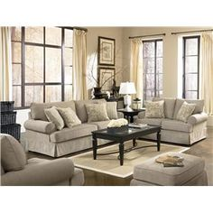 Home Gallery Furniture For Ashley Candlewick, Candlewick Linen Sofa