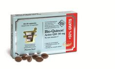 Pharma Nord Bio Quinon Q10 Active 30 mg (voorheen Bio-Quinon Super) 30 softgels - Bio-Quinon Q10 Active bevat 25 mg vitamine C ter ondersteuning van de energieproductie in het lichaam en ter bestrijding van vermoeidheid. Bio-Quinon Q10 bevat daarnaast 30 mg lichaamseigen Q10 per capsule, opgelost in sojaolie voor een optimale opname. Nu extra voordelig: 60   30 capsules voor maar 27,95! Dat is 30% korting!