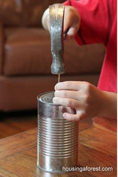 Tin Can Howler - a fun toy kids can make