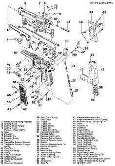 138 best weapons firearms diagrams images on pinterest revolvers rh pinterest com Beretta M9 Diagram Beretta 9Mm Parts