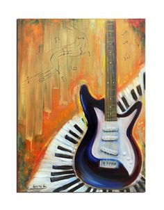 Contemporary art original oil by artstudioAreti Painting Abstract, Oil Painting On Canvas, Piano, Contemporary Art, Guitar, Art Online, The Originals, Shopping Mall, Artist