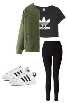 Outfit for teens by madisenharris on Polyvore featuring adidas and Miss Selfridge #cuteteenoutfits