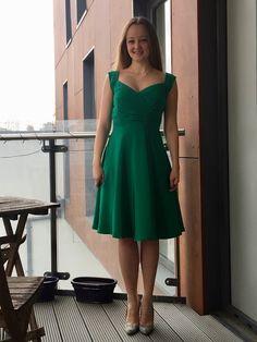 Kelly Green Silk Occasion Dress