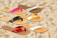 2 Pairs of Toe-Post Sandals - 6 Colours!