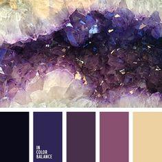 Color Palette (Color Palette Ideas) Violet Things violet color of amethyst Color Schemes Colour Palettes, Colour Pallette, Color Palate, Color Combos, Purple Color Schemes, Purple Palette, Black Color Palette, Monochrome Color, Amethyst Color