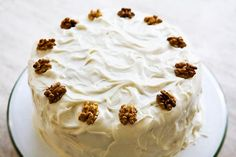 Our favorite carrot cake recipe, with walnuts, coconut, and pineapple, and a cream cheese frosting.