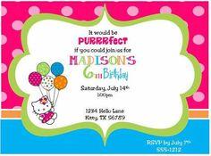 Hello Kitty Printable Invitation.