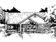 Eplans Cottage House Plan - Two Bedroom Cottage - 1036 Square Feet and 2 Bedrooms(s) from Eplans - House Plan Code HWEPL56786