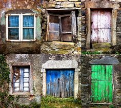 Doors & Windows along the Camindo de Santiago trail in Spain