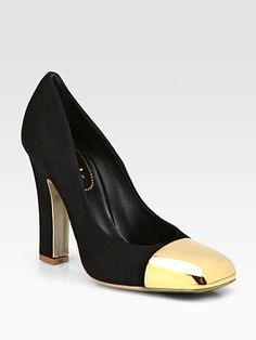 Yves Saint Laurent Suede and Metal-Plate Pumps-these i will only dream about at 1095/pr