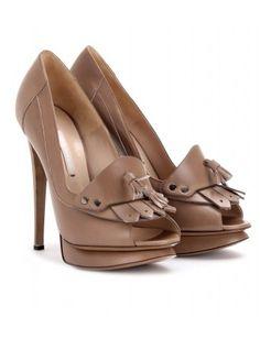 mytheresa.com - Nicholas Kirkwood - LEATHER PEEP-TOE PLATFORM PUMPS - Luxury Fashion for Women / Designer clothing, shoes, bags - StyleSays