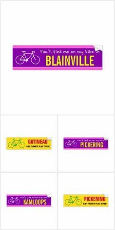 Various bicycle-themed designs. Cycling Bikes, Design, Design Comics