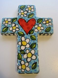 This beautiful cross was hand painted and designed by my friend, Shannon of Shannon Mitchell designs.  Check out her work.  Better yet, start your own collection!