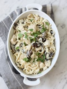 Chicken & Mushroom Alfredo Recipe | Paleo Parents