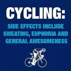 The side effects of #cycling
