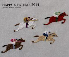 embroidery horse 2014 by yumiko higuchi 樋口 愉美子