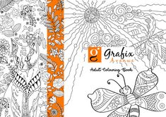 Adult Coloring (Doodles) on Behance Doodle Coloring, Adult Coloring, Colouring, Reduce Tummy Fat, Bullet Journal Work, Doodle Books, Pattern Coloring Pages, Textbook, Projects To Try