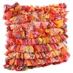 "Leela Pillow in Orange 24"" x 24"" ($75.00)  $30.00 Joss and Main"
