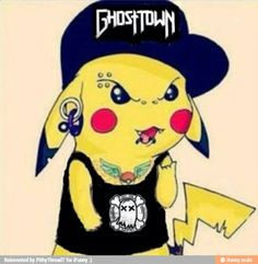 Pikachu Punk Edit ~ Ghost (Super Fan For Ghost Town)