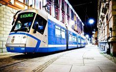 ul. Szewska róg Grodzkiej Train Light, Light Rail, Night, City, World, Beautiful, Trains, Trendy Tree, Cities