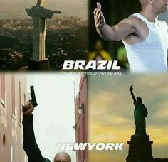 Brazil et New York Fast And Furious Memes, Fast And Furious Cast, The Furious, Stupid Funny Memes, Funny Relatable Memes, Paul Walker Movies, Dominic Toretto, Furious Movie, Narnia