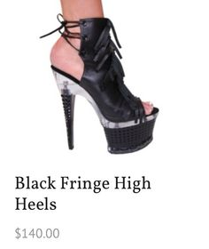 KITTY PAWS SHOES!!  CHECK IT OUT!!  FREE DELIVERY!! http://www.kittypawsshoes.com/shop/ankle-boots/black-fringe-high-heels/ #heels #halloween #costumes #halloweencostumes #women #shoes #online #shopping #sexy #unique #womencostumes #kittypawsshoes