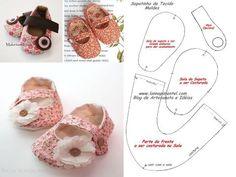 SAPATINHOS PARA BEBÊS COM MOLDE E PASSO A PASSO http://lannapimentel.com/sapatinhos-de-tecido-para-bebes-1/