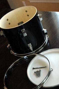 Drum shade pendant light
