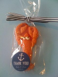 Lucky Lobster wedding favors...Cranberry Island Kitchen