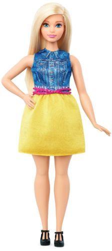 2016-Barbie-Evolution-Fashionista-Doll-Curvy-Blonde-Hair-Denim-Yellow-NEW