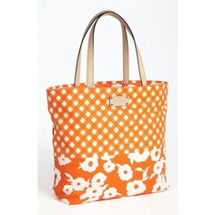 kate spade new york 'day tripper' canvas bon shopper Firoza ($74) ❤ liked on Polyvore featuring bags, handbags, tote bags, purses, canvas shopping bags, shopping tote, handbags totes, canvas shopping tote and kate spade purses
