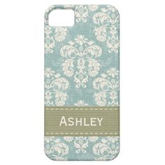 Blue and Green Damask iPhone 5 Case