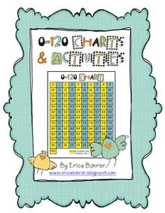 $4.00    0-120 Charts and Activities - Common Core (This Common Core aligned packet is for six activities based on a 0-120 chart. I have included four versions of the chart. The activities are as follows:  Fill in the Missing Number  Adding Tens - An Introduction to Two Digit Addition  Ten Less & Ten More  One Less, One More, Ten Less, & Ten More  Odd & Even Jars  Adding with a 0-120 Chart)