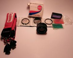 Canon lens, photographic set, neck strap, colored filters parts in Cameras & Photo, Camera & Photo Accessories, Other Camera & Photo Accs | eBay